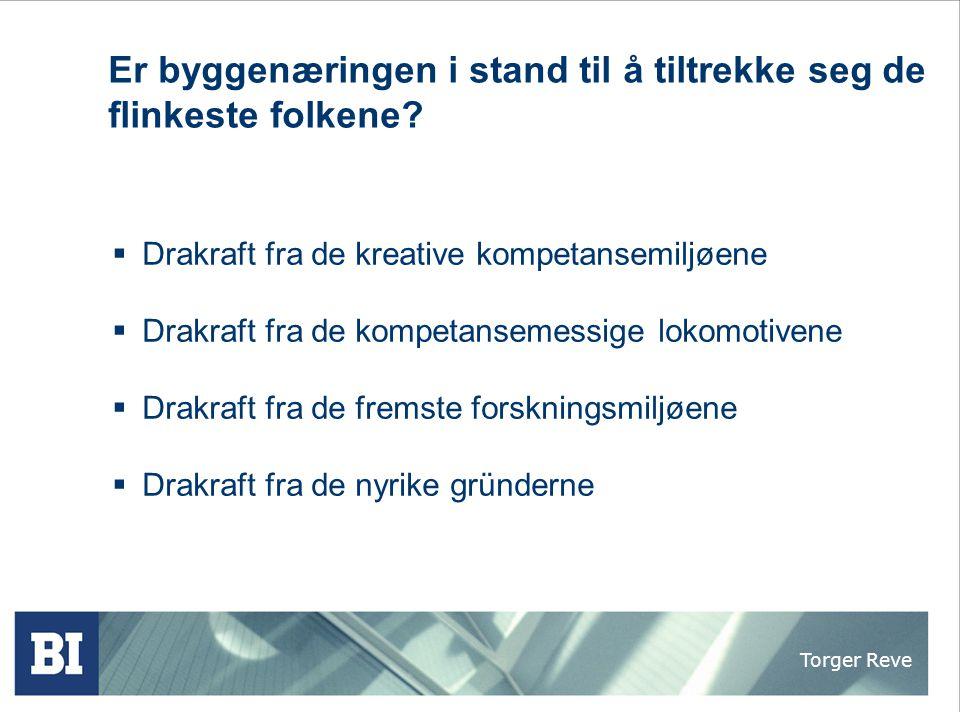 Torger Reve BAE - næringen trenger en kompetanserevolusjon  Norske bedrifter er kun konkurransedyktige i høykompetansemarkeder  Norske bedrifter er kun konkurransedyktige når teknologiinnholdet er høyt  Norske bedrifter er kun konkurransedyktige når de har fremragende ledere og motiverte fagfolk  Norske bedrifter er kun konkurransedyktige når de er markedsorienterte kremmere i alle ledd