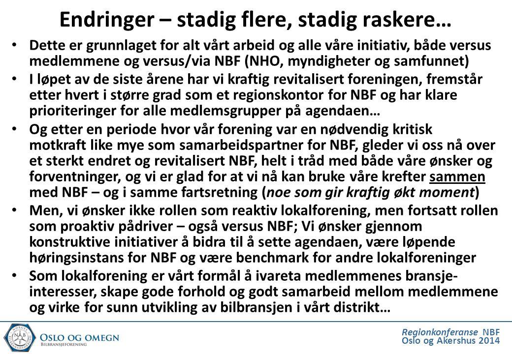 Regionkonferanse NBF Oslo og Akershus 2014 Dette er grunnlaget for alt vårt arbeid og alle våre initiativ, både versus medlemmene og versus/via NBF (N