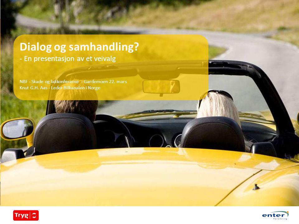 Dialog og samhandling. - En presentasjon av et veivalg NBF - Skade og lakkonferanse - Gardemoen 22.