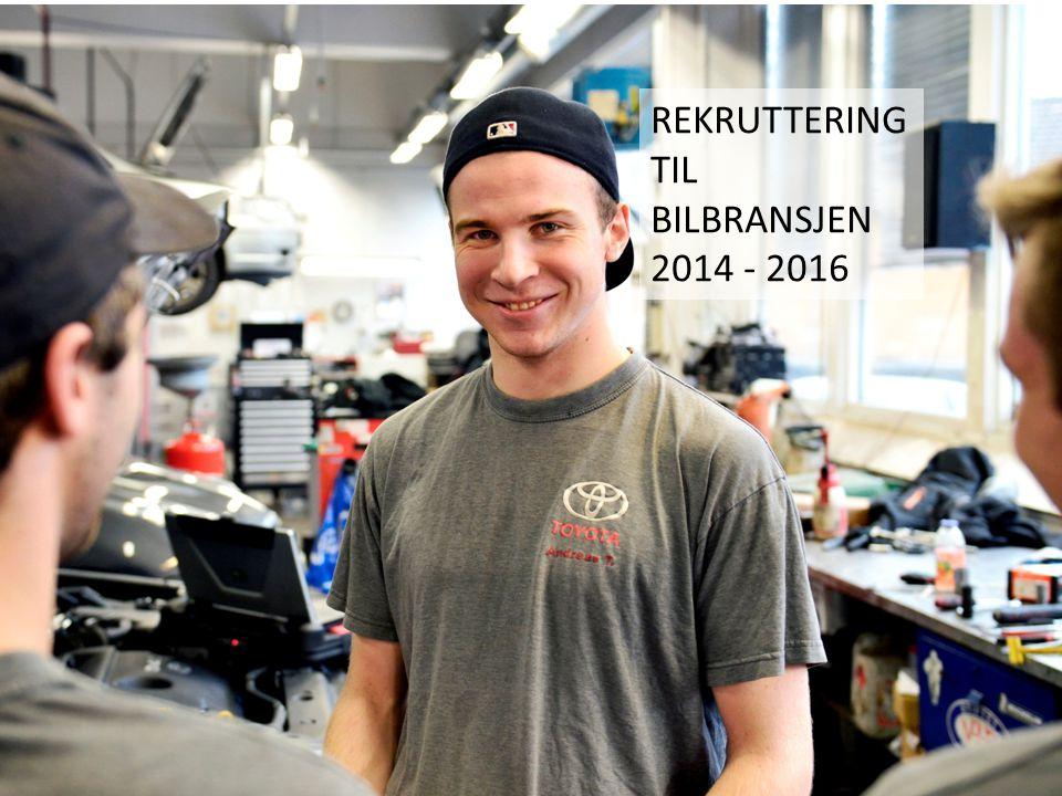 REKRUTTERING TIL BILBRANSJEN 2014 - 2016