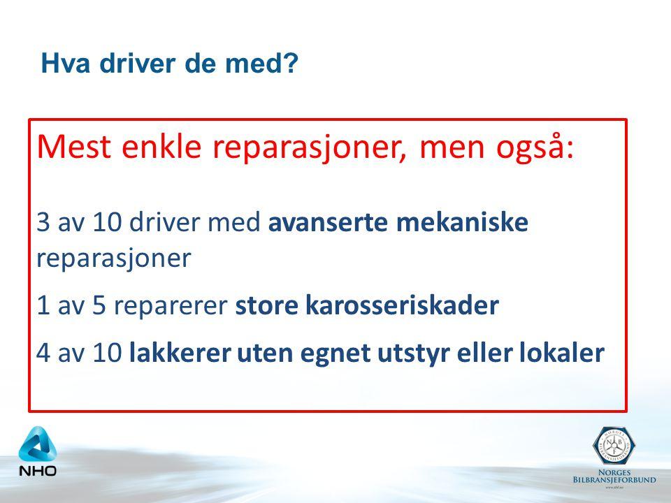 Snuskete drift Driver svart Ikke godkjent Følger ikke hms-regelverk Ikke egnede lokaler
