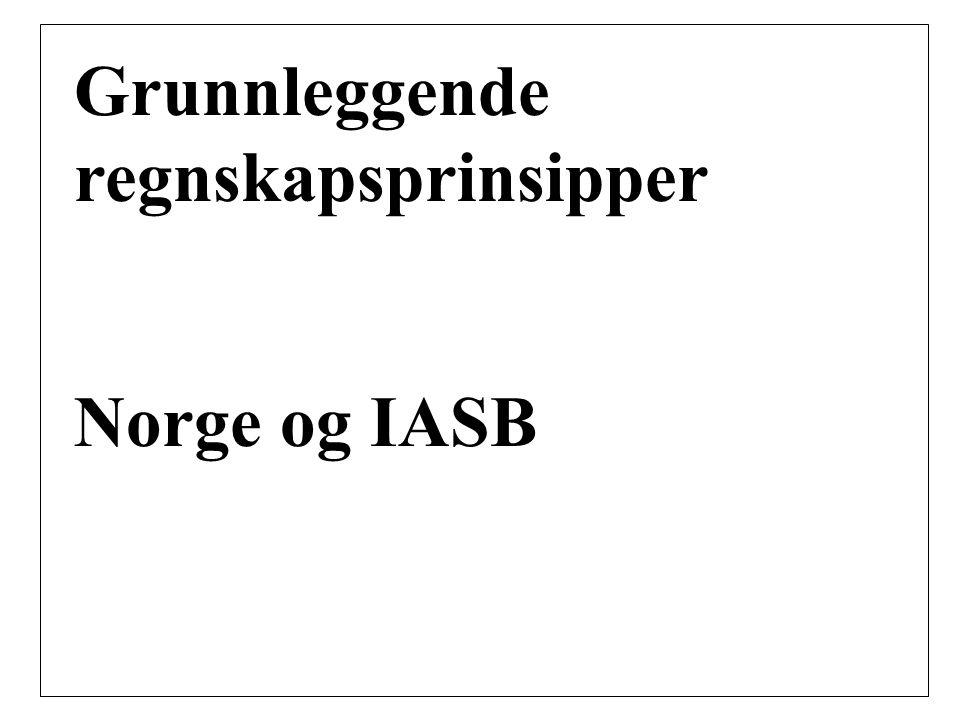 Grunnleggende regnskapsprinsipper Norge og IASB