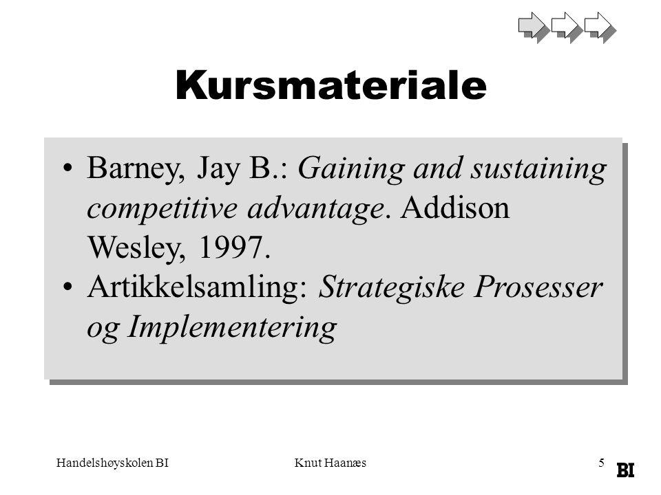 Handelshøyskolen BIKnut Haanæs6 Evaluering SIV 63105 Case 1 (20%) SIV 63106 Case 2 (20%) SIV 63106 Prosjektoppgave (60%)