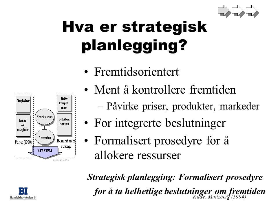 Hva er strategisk planlegging.
