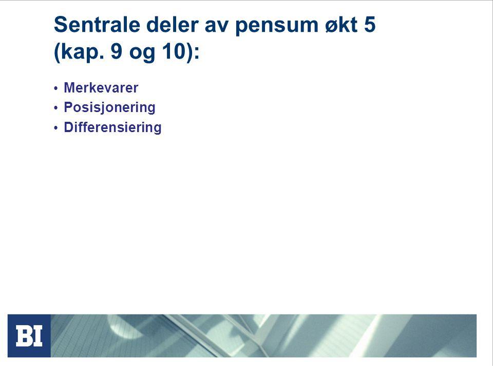 Kriterier for effektiv segmentering. Segmenter må være: Målbare Bærekraftige Tilgjengelige Differensierbare Handlingsmulige