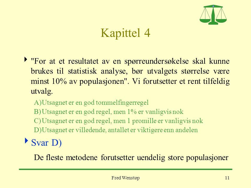 Fred Wenstøp11 Kapittel 4 