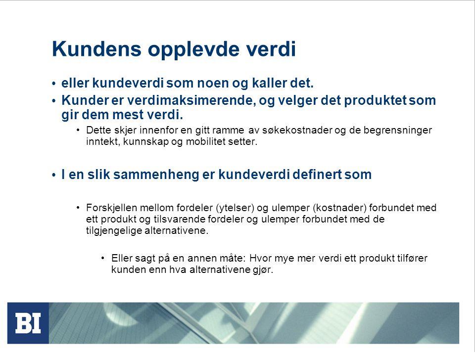 Figur 5.3 Lønnsomhetsanalyse kunde-produkt I dette eksempelet bør bedriften øke prisen på produkt 3 (eller slutte å markedsføre det) og kanskje få kunde 2 og 3 til å bytte til en av konkurrentene