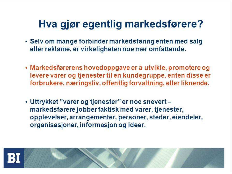 Hva gjør egentlig markedsførere.