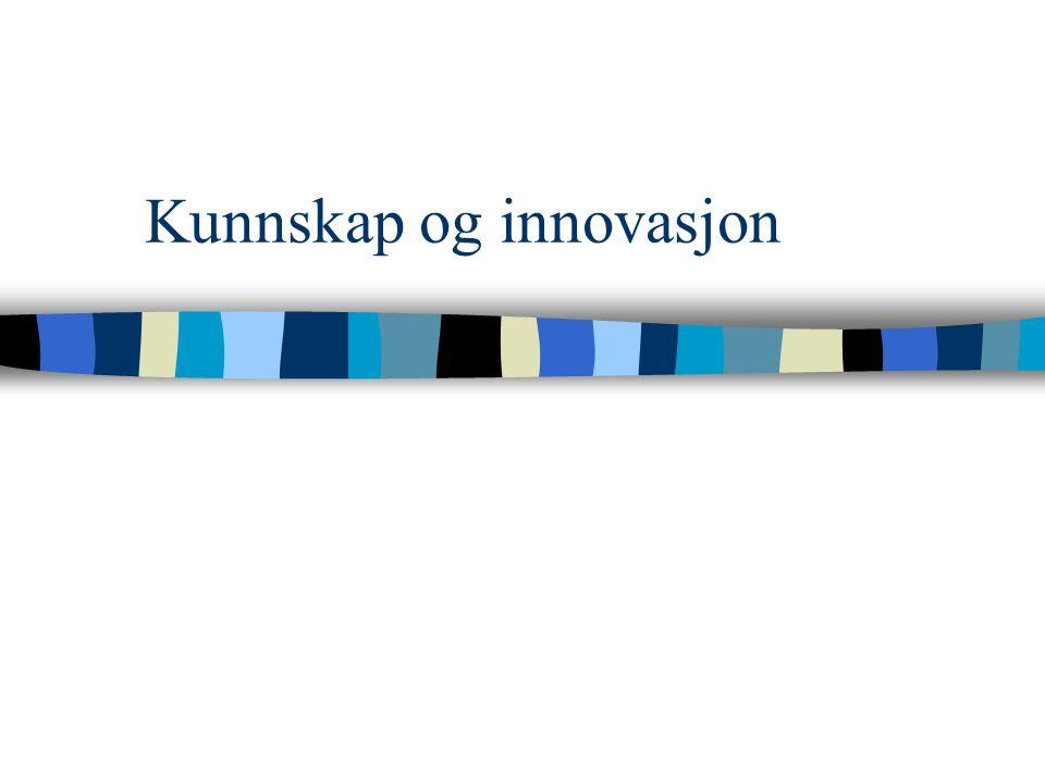 31.01.01 Strategi II, siviløkonom Viktige elementer fra forrige forelesning n Innovasjon krever –kunnskap (variasjon) –et langsiktig perspektiv –villi