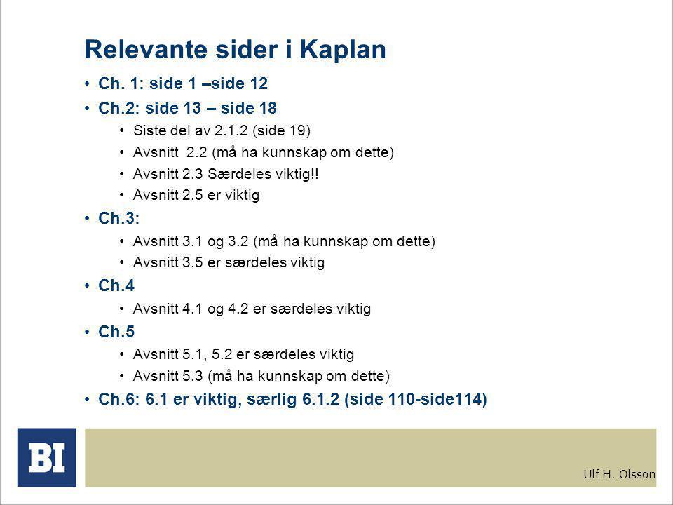 Ulf H. Olsson Relevante sider i Kaplan Ch.