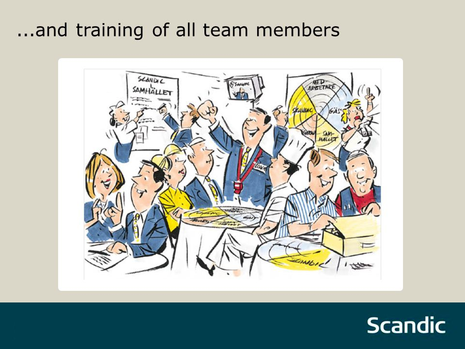 ...and training of all team members