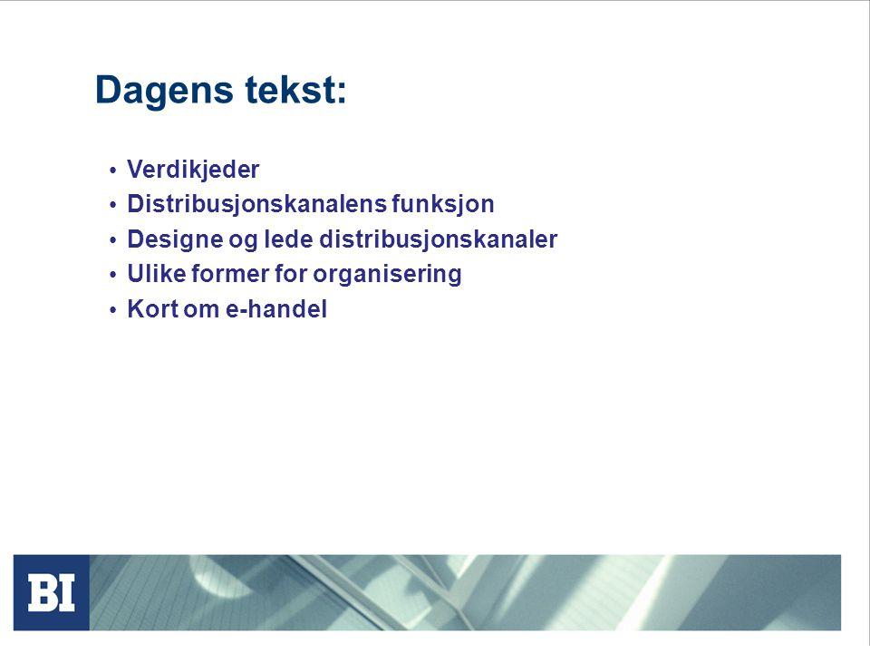 Konflikttyper i kanalen Årsaker til kanalkonflikt: Målkonflikter Ulike aktører har ikke nødvendigvis sammenfallende interesser.
