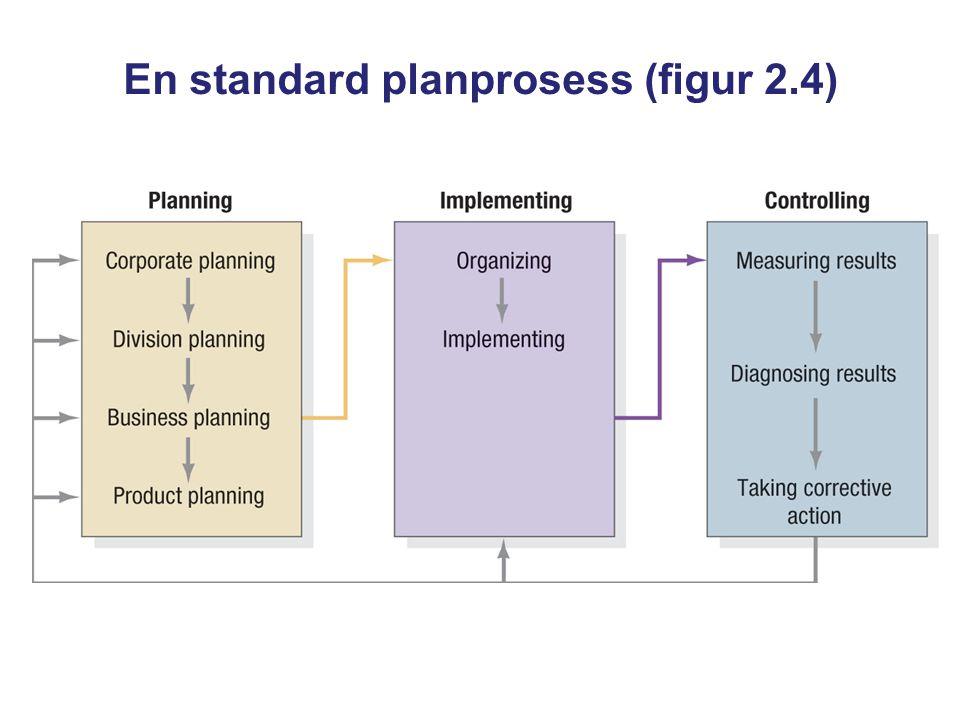 En standard planprosess (figur 2.4)