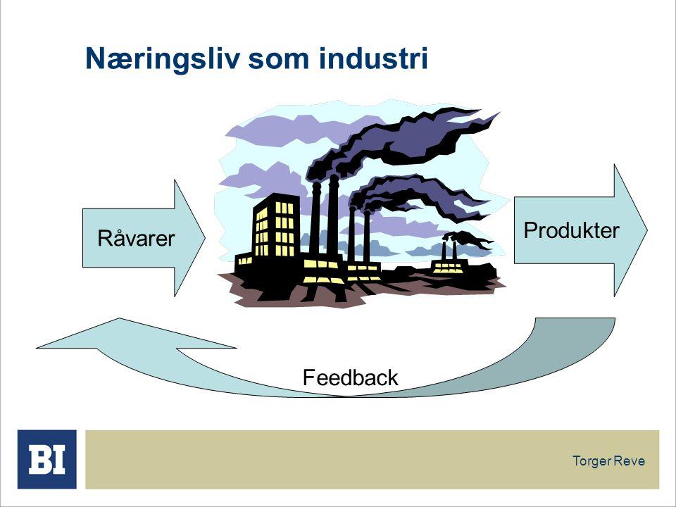 Torger Reve Næringsliv som industri Råvarer Produkter Feedback