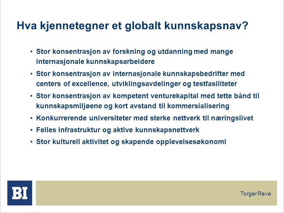 Torger Reve Hva kjennetegner et globalt kunnskapsnav.