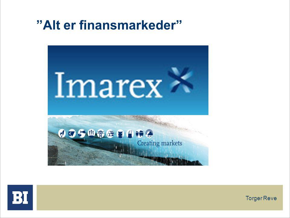 Torger Reve Alt er finansmarkeder