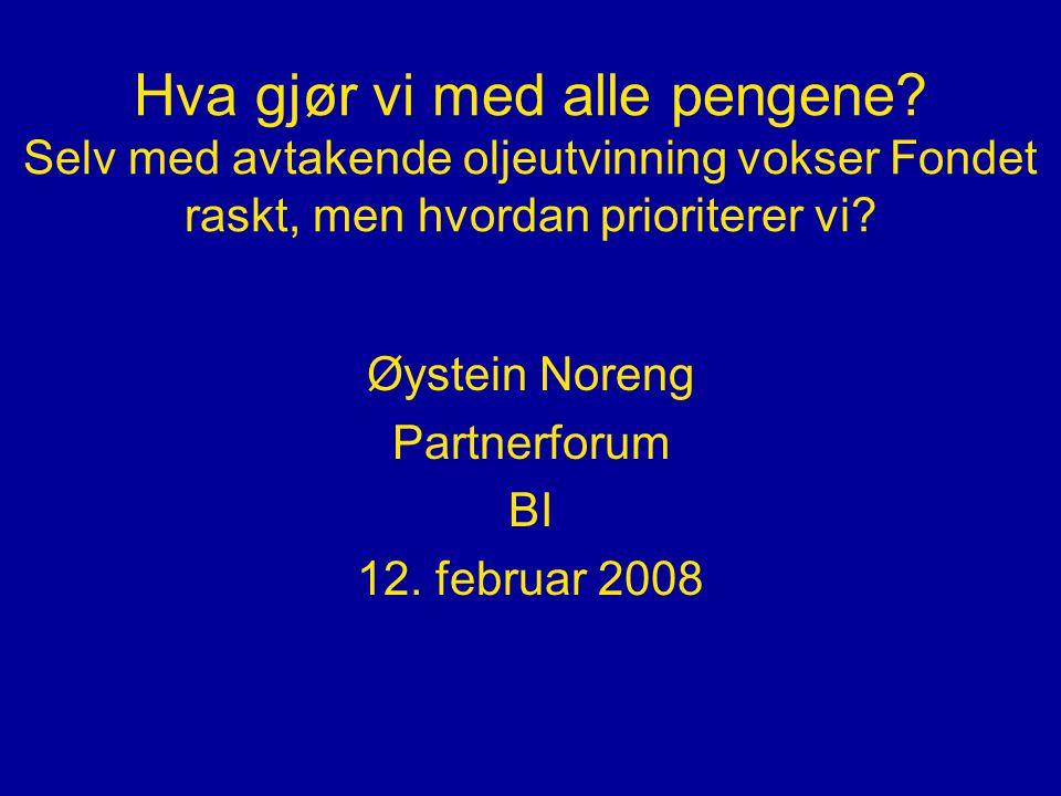 Norsk oljeutvinning og prisene