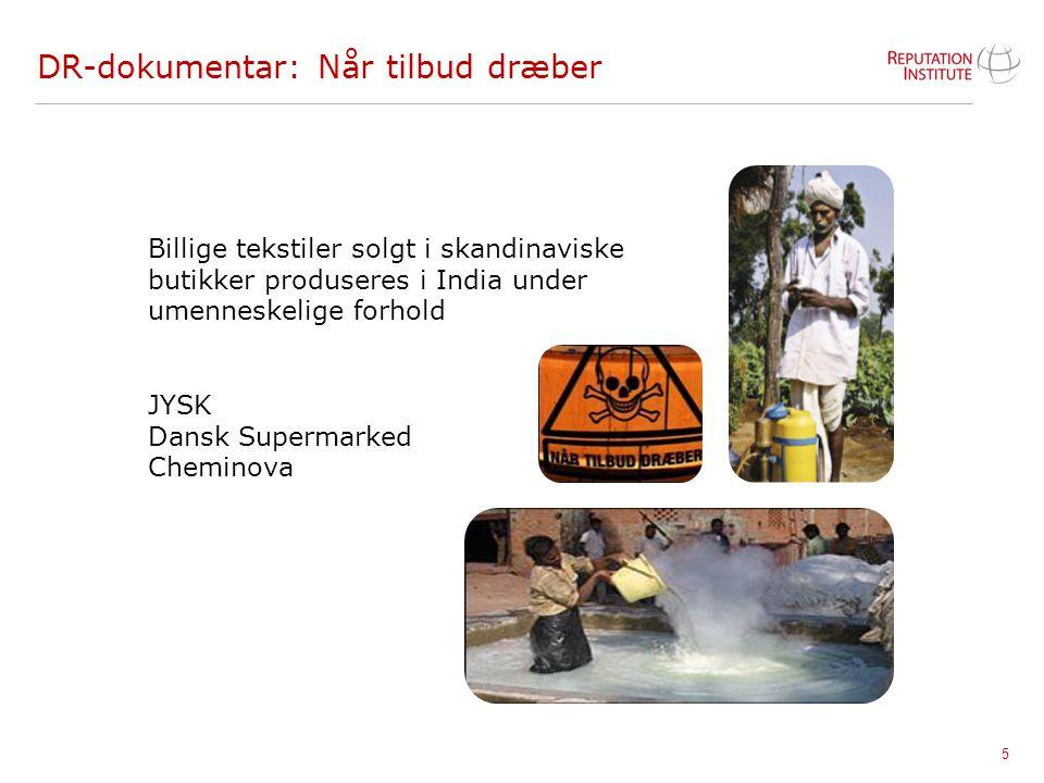 5 DR-dokumentar: Når tilbud dræber Billige tekstiler solgt i skandinaviske butikker produseres i India under umenneskelige forhold JYSK Dansk Supermar