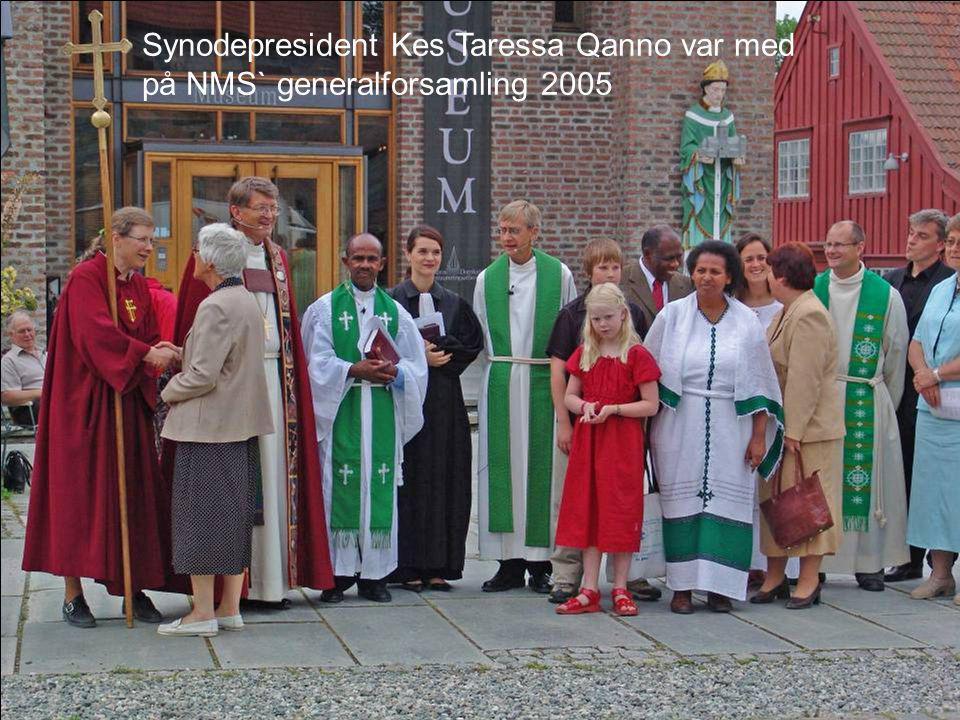 Synodepresident Kes Taressa Qanno var med på NMS` generalforsamling 2005