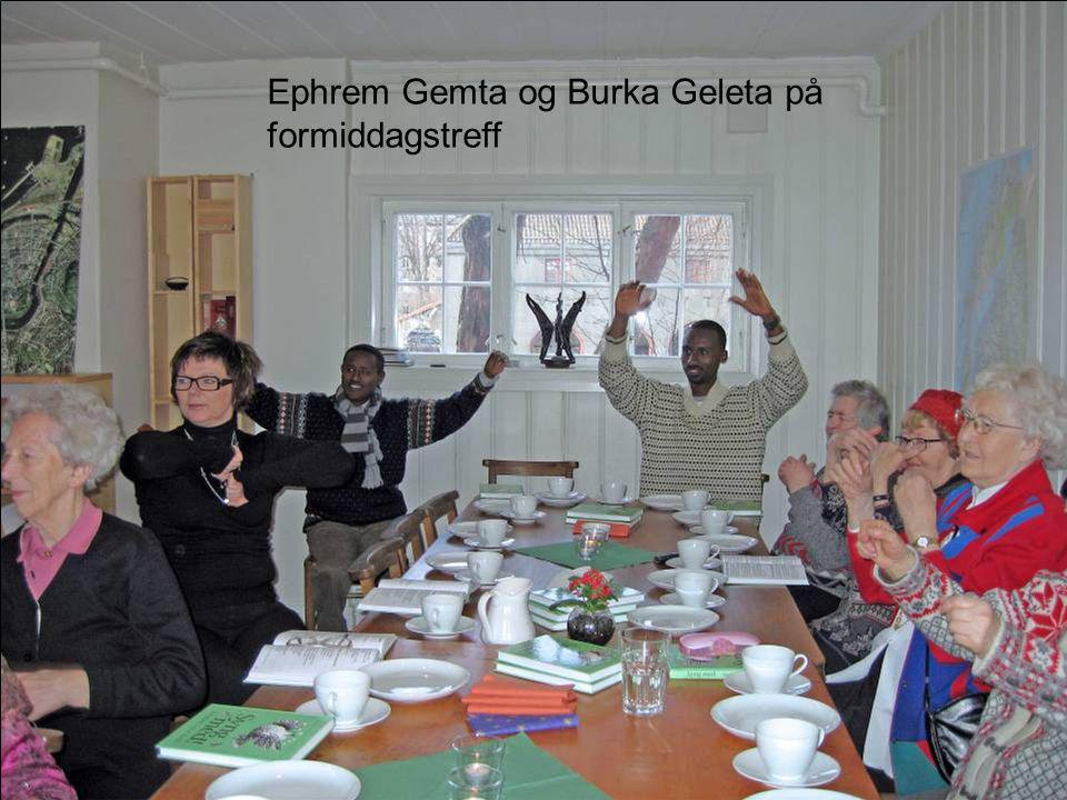 Ephrem Gemta og Burka Geleta på formiddagstreff