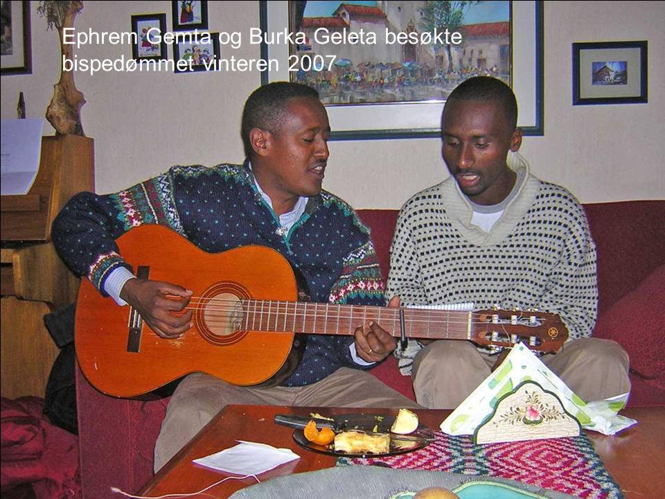 Ephrem Gemta og Burka Geleta besøkte bispedømmet vinteren 2007