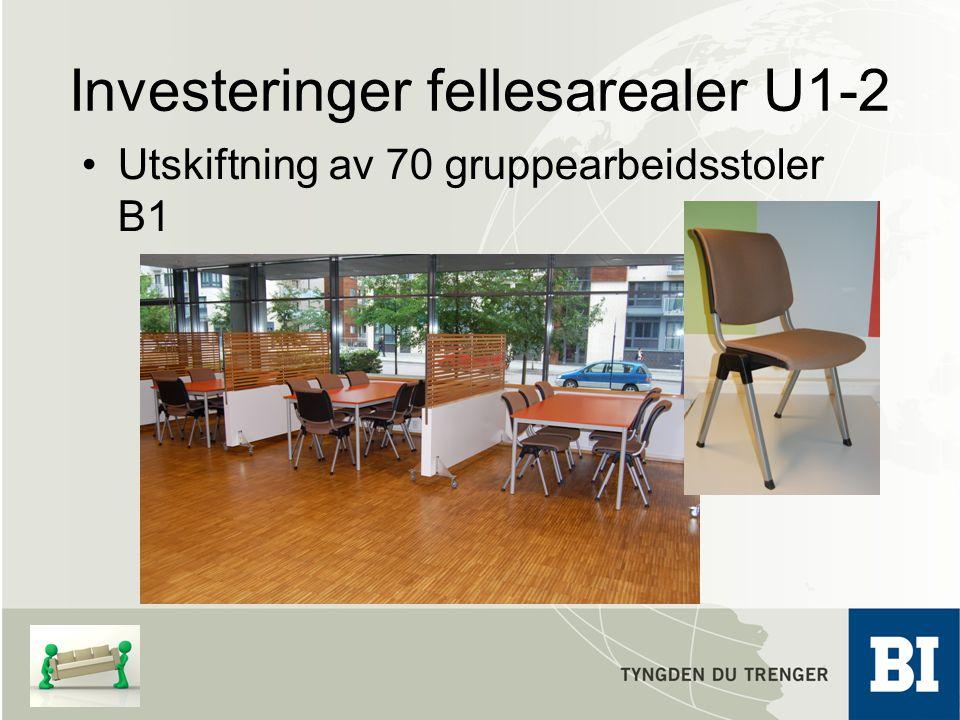 Investeringer fellesarealer U1-2 Utskiftning av 70 gruppearbeidsstoler B1