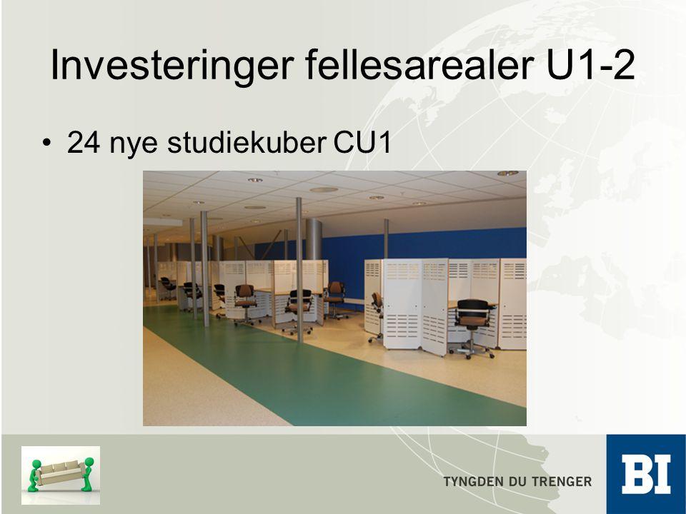 Investeringer fellesarealer U1-2 24 nye studiekuber CU1