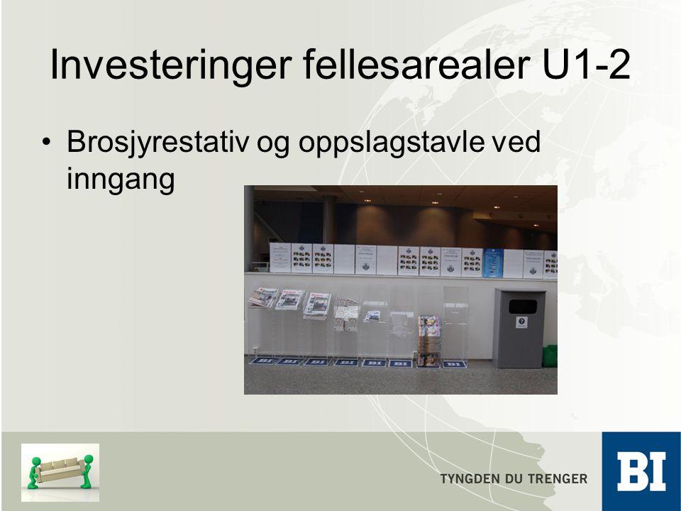 Investeringer fellesarealer U1-2 Brosjyrestativ og oppslagstavle ved inngang