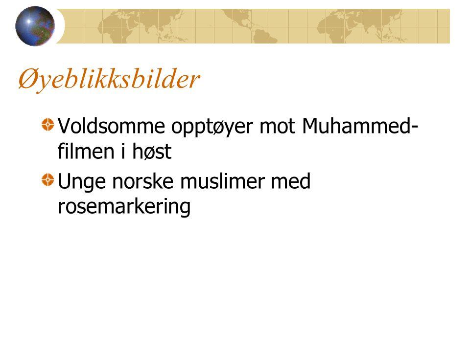 Øyeblikksbilder Voldsomme opptøyer mot Muhammed- filmen i høst Unge norske muslimer med rosemarkering