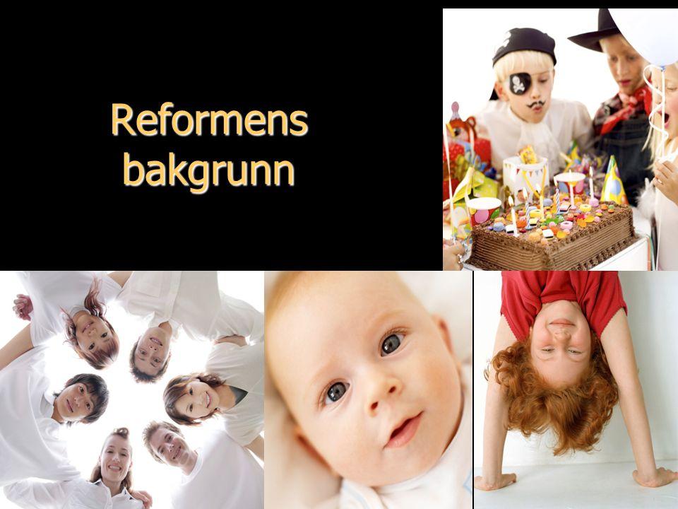 ...åpen omsorg - levende tro.... Reformens bakgrunn