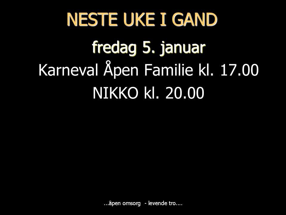 Neste søndag Høymesse med nattverd Ronald Mong, Harald Westermoen og Unge Voksne