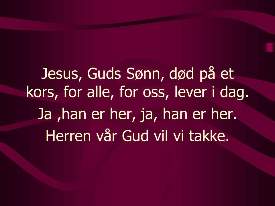 Omkved Herre, vi takker deg, Herre, vi priser deg, Herre, vi synger ditt hellige navn!