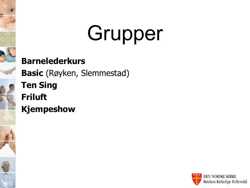 Grupper Barnelederkurs Basic (Røyken, Slemmestad) Ten Sing Friluft Kjempeshow