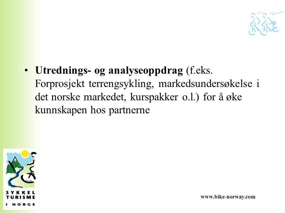 www.bike-norway.com Utrednings- og analyseoppdrag (f.eks.