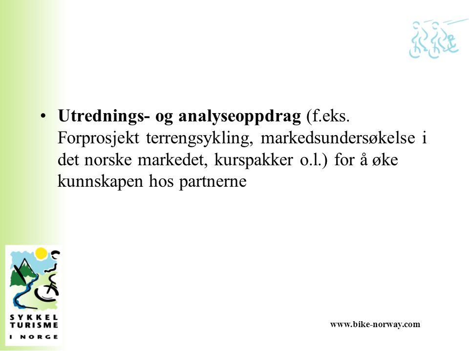 www.bike-norway.com Nasjonal sykkelstrategi - St.meld nr.