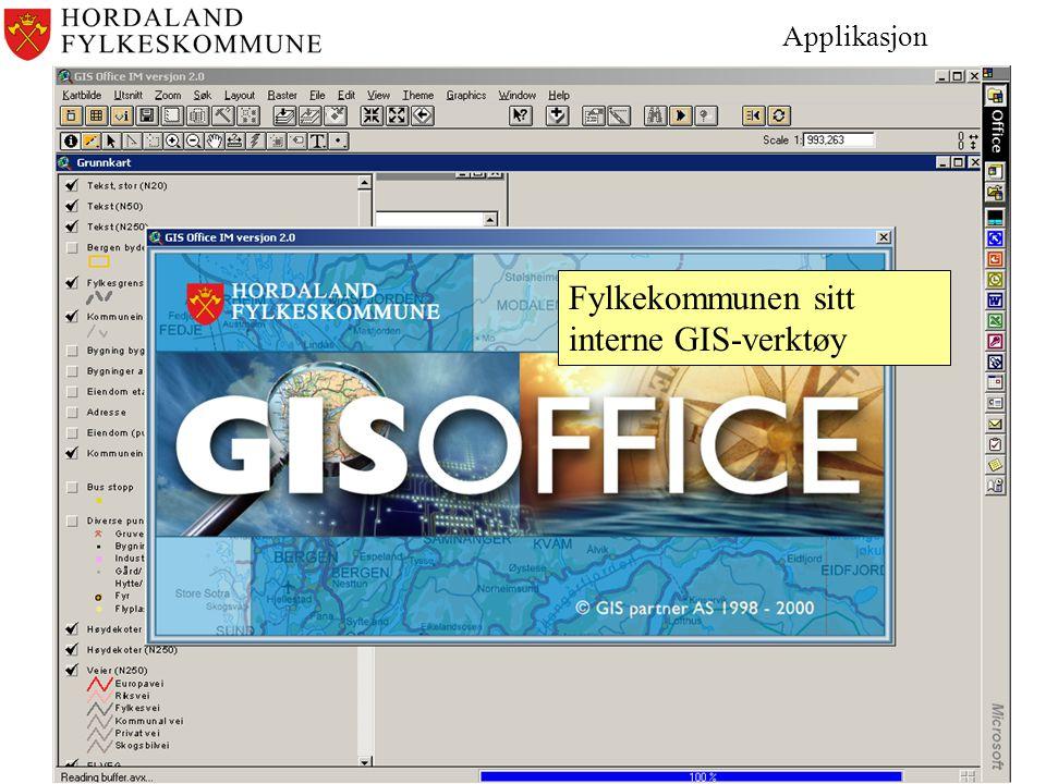 Applikasjon Fylkekommunen sitt interne GIS-verktøy