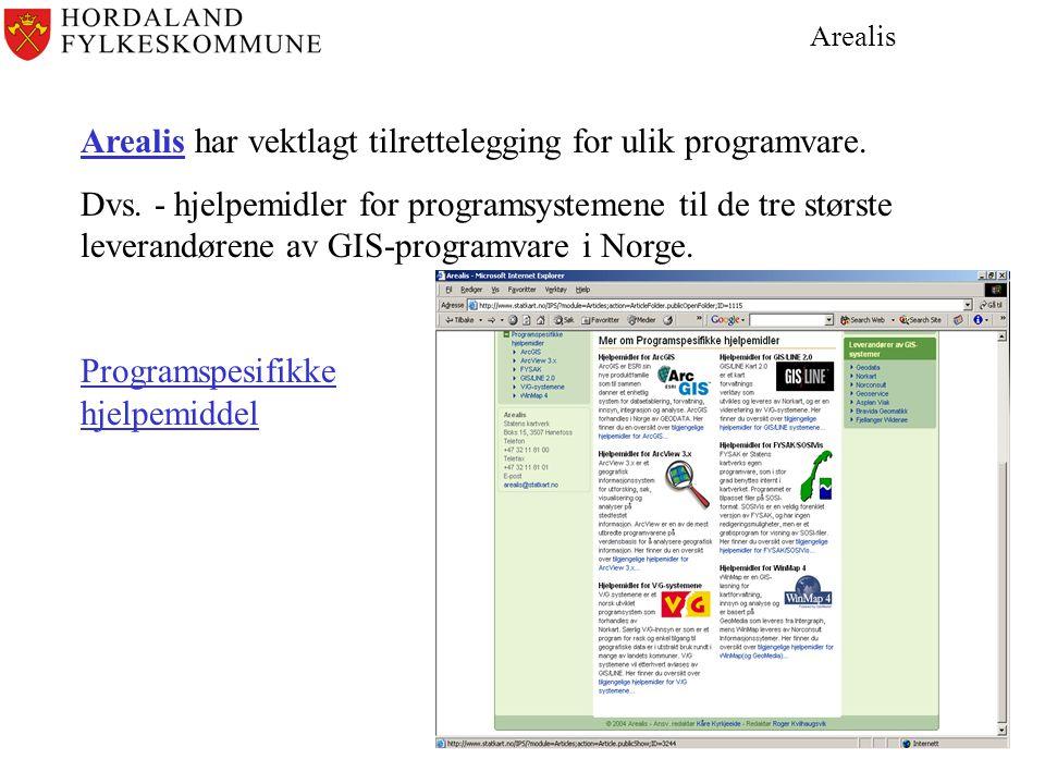 Arealis Arealis har vektlagt tilrettelegging for ulik programvare.