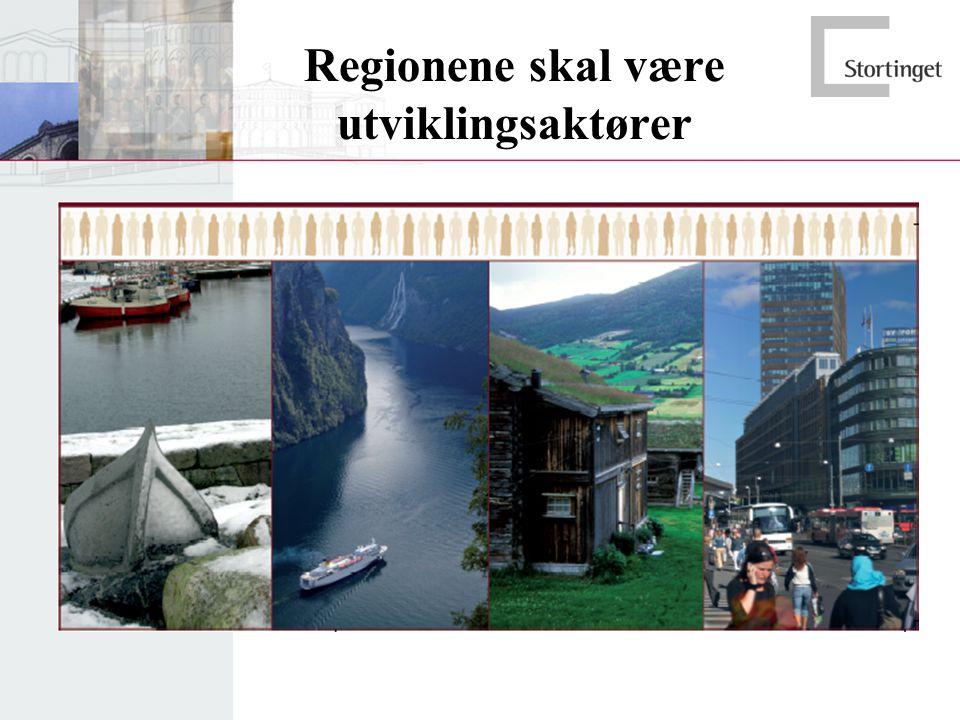 Regionene skal være utviklingsaktører