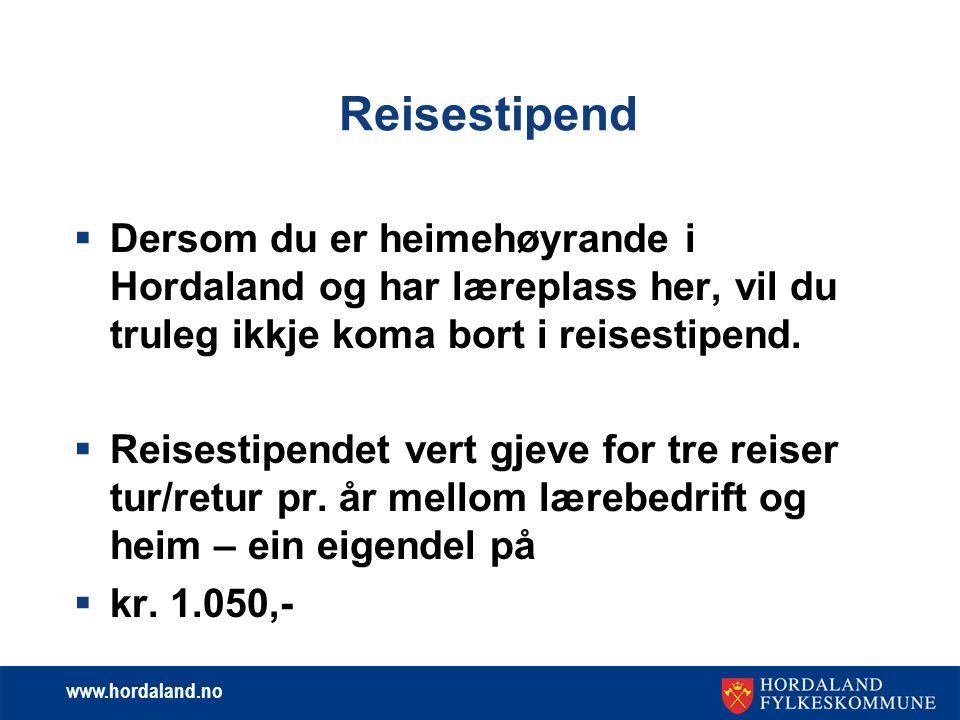 www.hordaland.no Inntektsrammer i 2013 - 2014  Dersom du søkjer om stønad for vår og haust kan du ha ein inntekt på tilsamen kr.