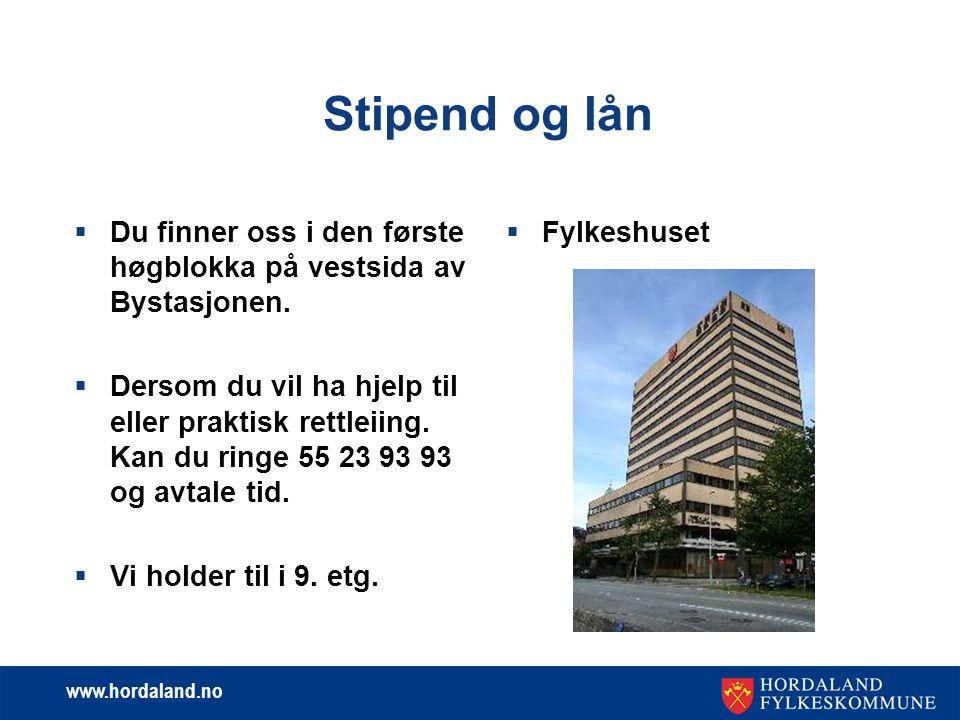 www.hordaland.no Kor tid kan søknaden registrerast.