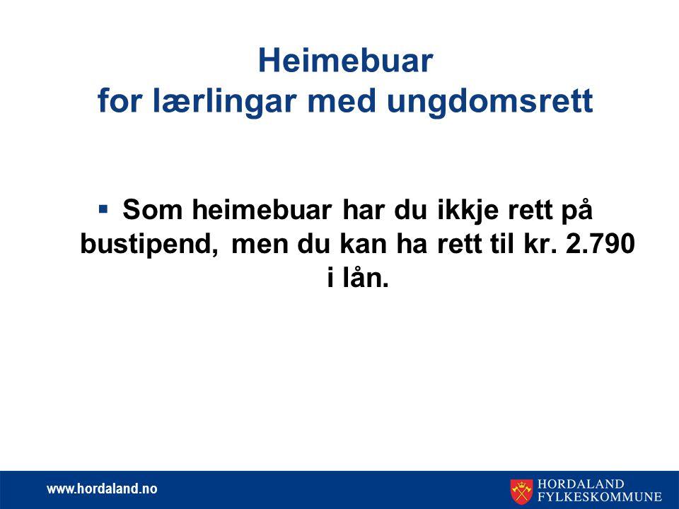 www.hordaland.no Ungdomsrett.  Rett til å ta ut 3 år opplæring innan ein frist på 5 år.