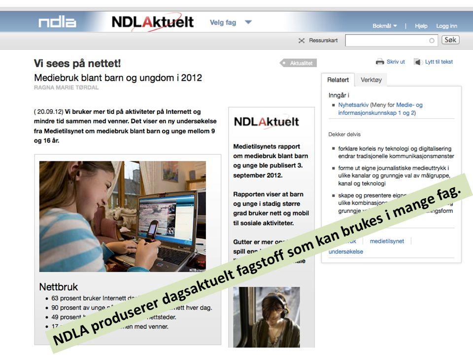 NDLA produserer dagsaktuelt fagstoff som kan brukes i mange fag.