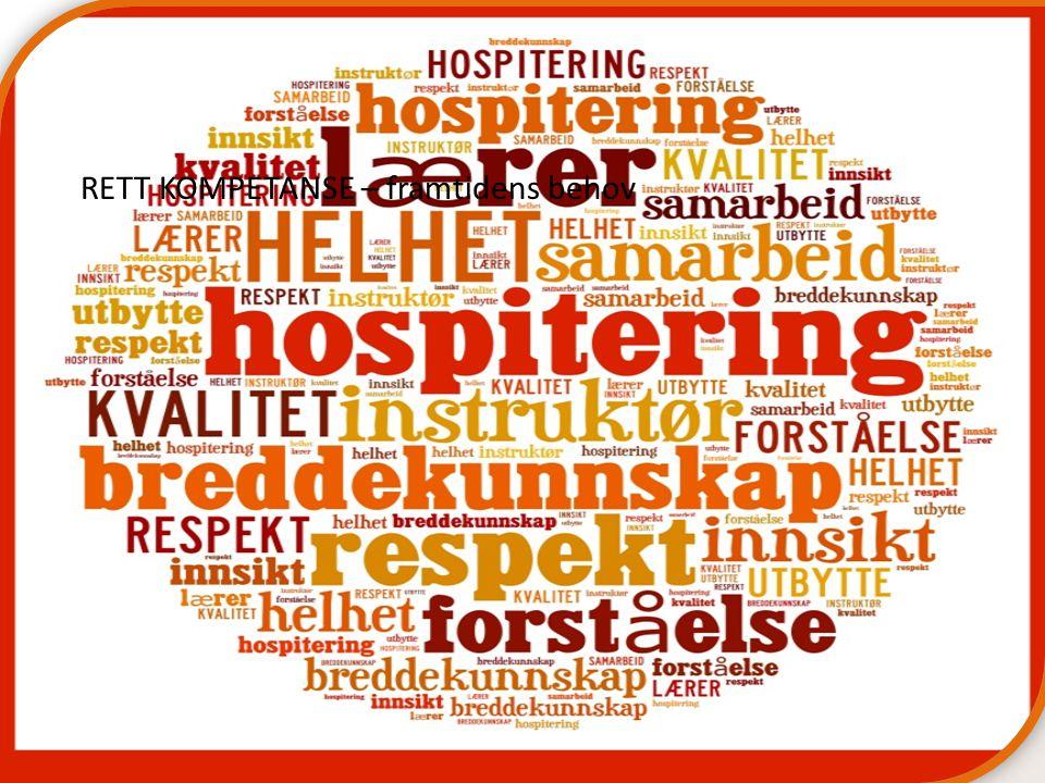 Hospitering i Hordaland RETT KOMPETANSE – framtidens behov