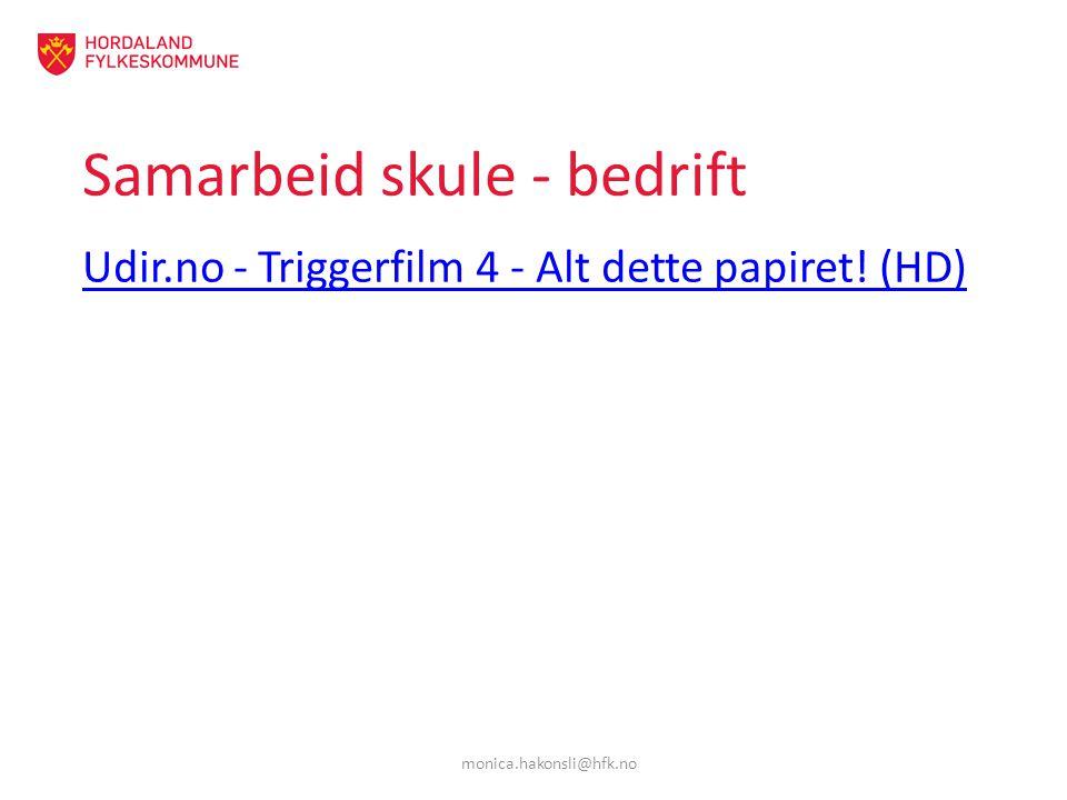 Samarbeid skule - bedrift Udir.no - Triggerfilm 4 - Alt dette papiret! (HD) monica.hakonsli@hfk.no