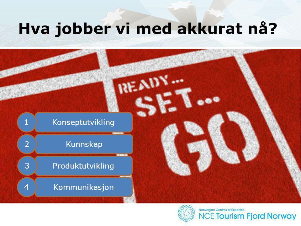 Konseptualisering står i fokus! Konseptutvikling Kunnskap Produktutvikling Kommunikasjon 1 2 3 4