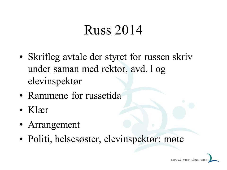 Russ 2014 Skrifleg avtale der styret for russen skriv under saman med rektor, avd.