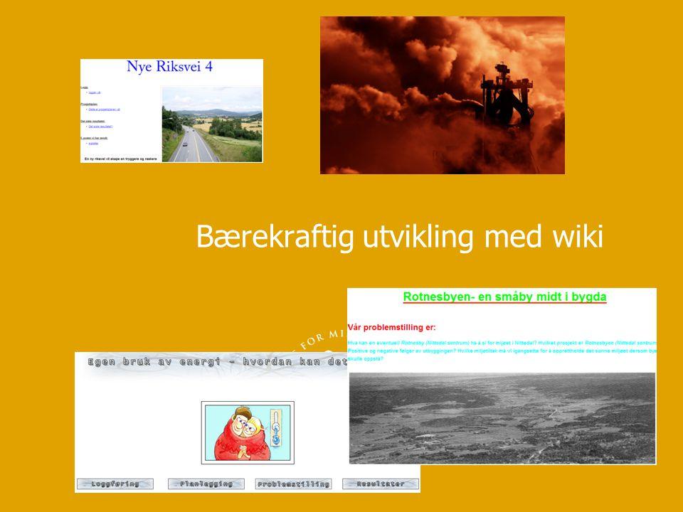 Bærekraftig utvikling med wiki