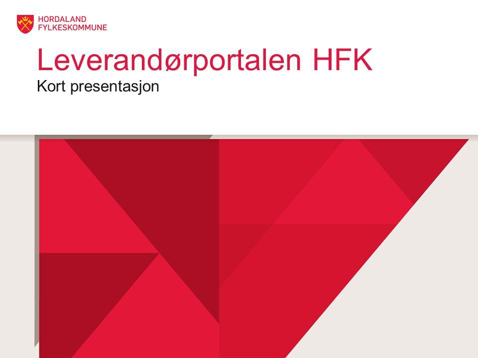 Leverandørportalen HFK Kort presentasjon