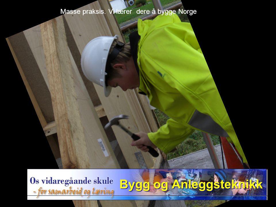 Masse praksis. Vi lærer dere å bygge Norge
