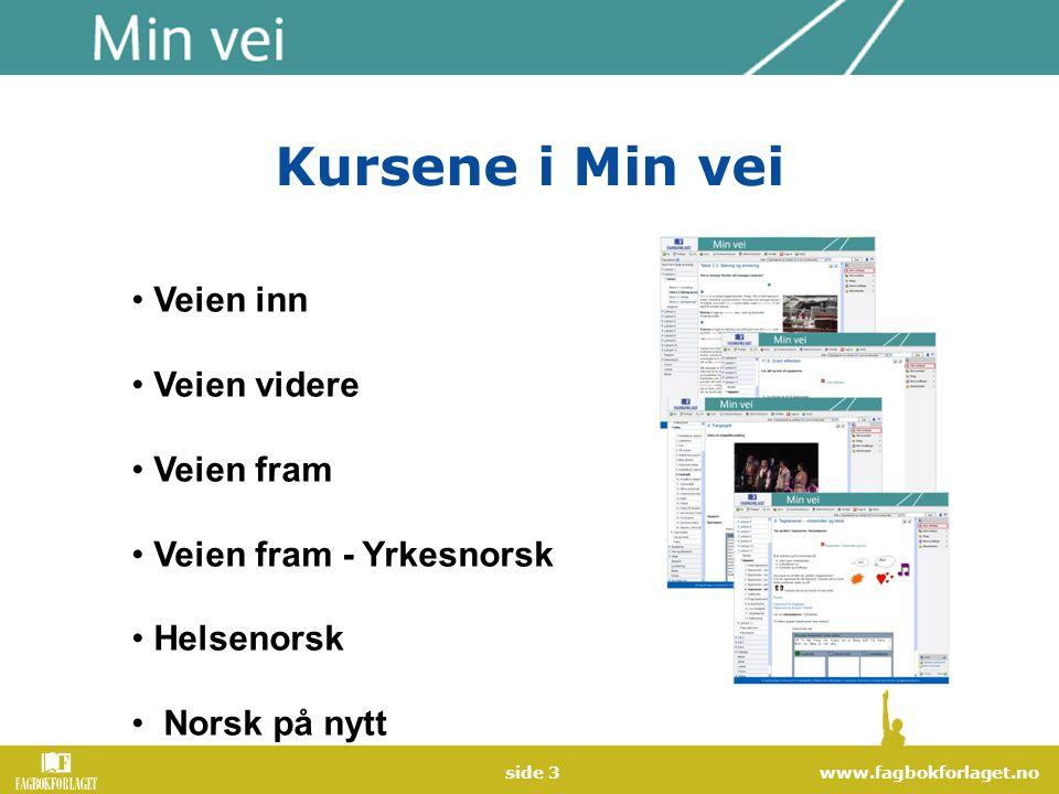 www.fagbokforlaget.noside 4 Veien inn Målgruppe: Minoritetsspråklige unge og voksne som har behov for å lære grunnleggende norsk.